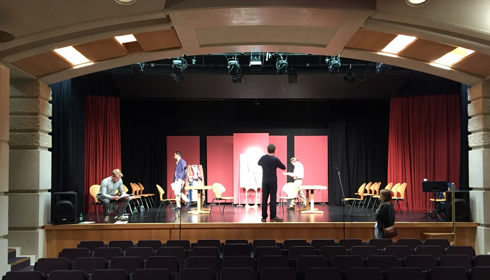 Rehearsal for Friday night's staged reading of Jan Woolf's new play The Man with the Gold